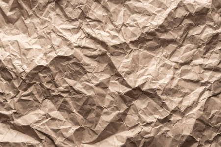 background-brown packaging paper crumpled. blank copy space background Stock fotó