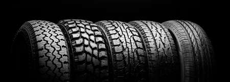 tires for crossovers and SUVs. Off-road tires Foto de archivo