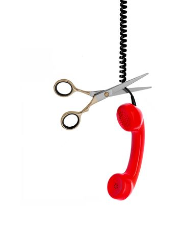Image of telephone line been cut Stock Photo - 7164628
