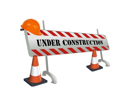 Image of website on road construction Stock Photo - 7164632