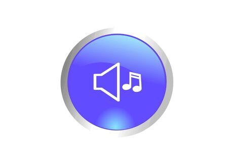 Image of volume icon with speaker symbol photo