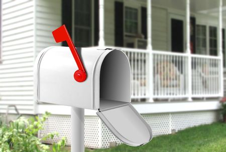 Image of white mail box in front of the house Stock Photo - 7164700
