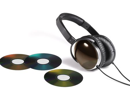 thee: Image of head phone and thee DVD disk