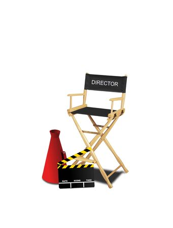 producer: Image of moving making tools for movie producer