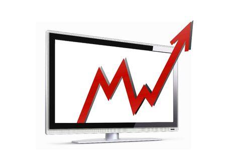 penetration: Image of sales arrow penetration LCD screen