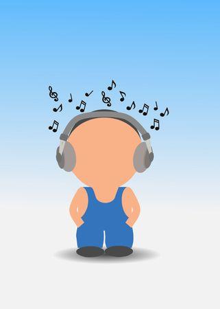 listen to music Stock Photo - 7333681