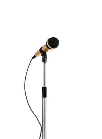 narrator: microphone standing