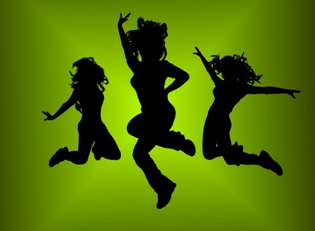 Dancing girls photo