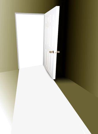Open door photo