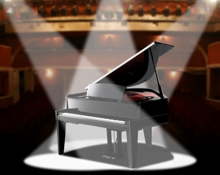 music hall: piano in concert hall