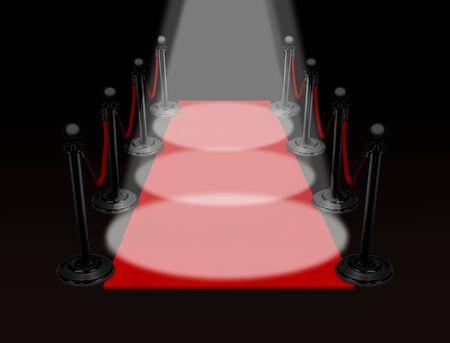 red carpet spotlight photo