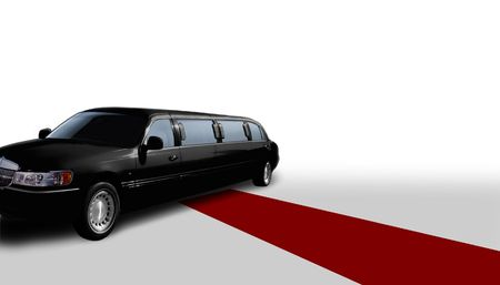 carpet color: limo and red carpet Stock Photo