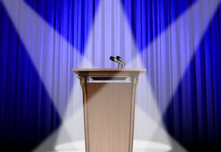 listeners: Podium on stage