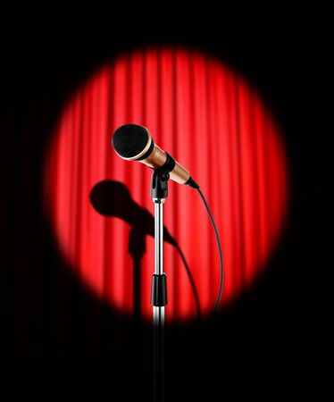 Curtains with microphone photo