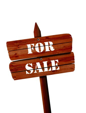 home sale: for sale signpost