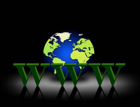 adsl: World wide web Stock Photo