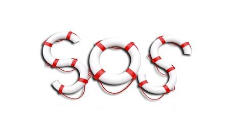 swimming belt: SOS