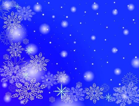 snow flakes falling photo