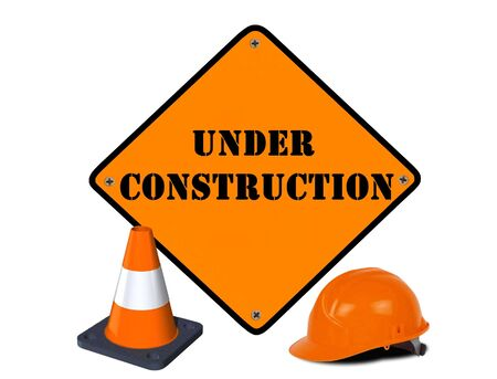 Under construction sign Stock Photo - 7921958
