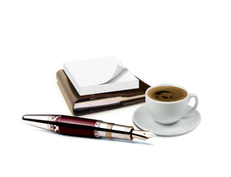 Diary note and coffee Stock Photo - 8143750