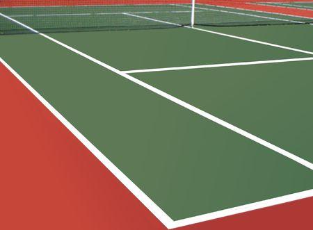 tennis racquet: Tennis court