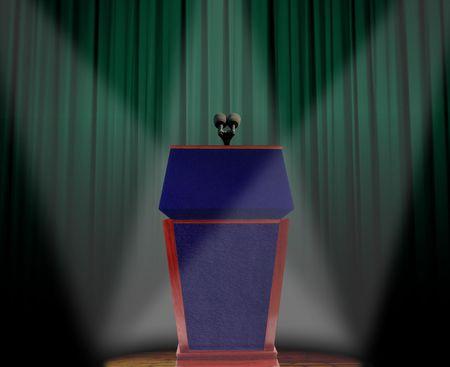 Podium on stage Stock Photo - 8186368
