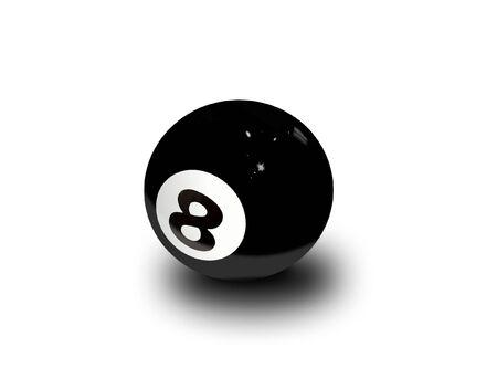 eight ball: eight ball over white Stock Photo