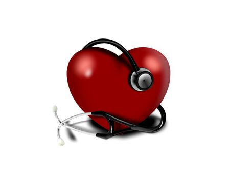 Heart and a stethoscope Stock Photo - 8870812