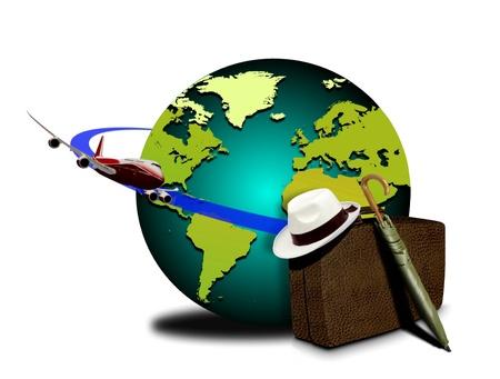 luggage pieces: World tour