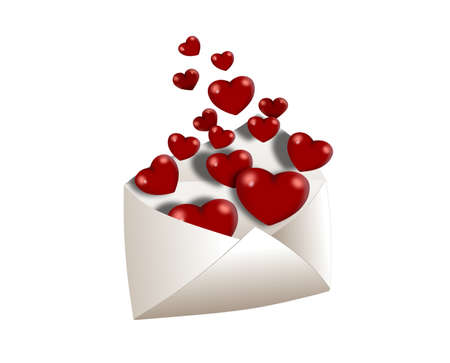Envelope with full of love Stock Photo - 9585785