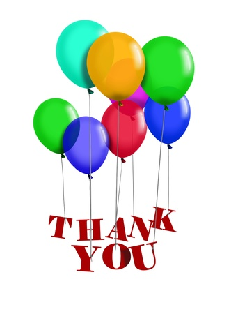 Thank You Balloons Standard-Bild - 10087642