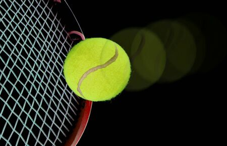 raquet: tennis ball and raquet