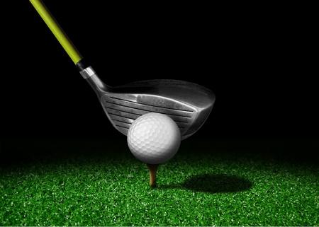 Golf club and ball photo