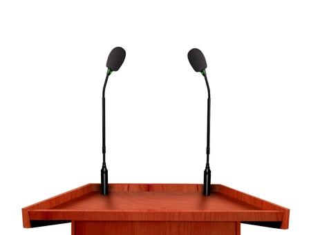 Podium and microphone