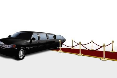 Limo und roten Teppich mit offener Tür Standard-Bild - 11198895