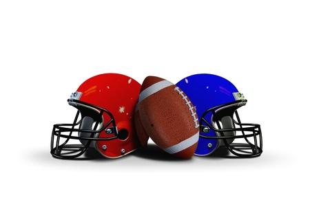 두 개의 헬멧 축구 공 스톡 콘텐츠