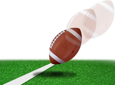 super bowl: football touch down Stock Photo
