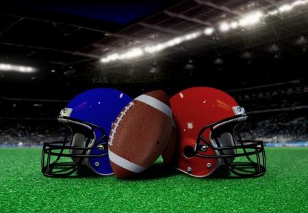 Fußball-Ausrüstung auf dem Feld in der Nacht Standard-Bild - 11810505