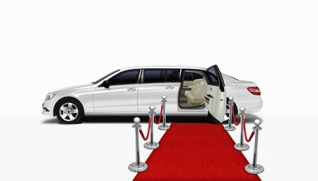 red carpet event: Limo and red carpet