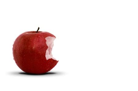 pomme rouge: Pomme rouge morsure
