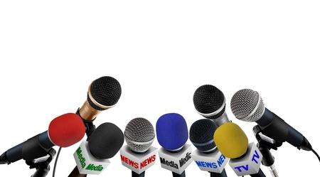 Pressekonferenz Standard-Bild - 13916872