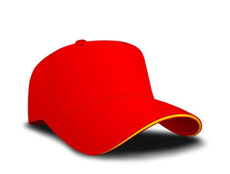 Red baseball cap photo