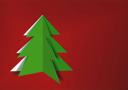 Paper cut Christmas tree photo
