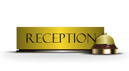 reception counter: Reception bell