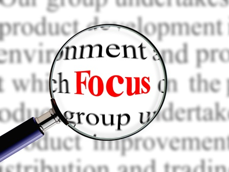 narration: Magnifying on word focus