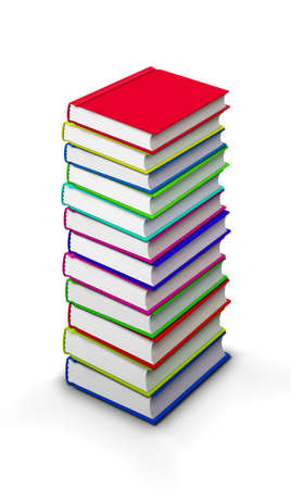 stacked books: High stack of books