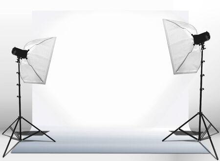reflector:  Studio lights set-up