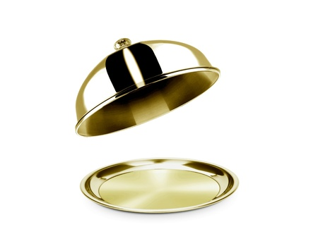 cloche: Cloche and platter with open lid