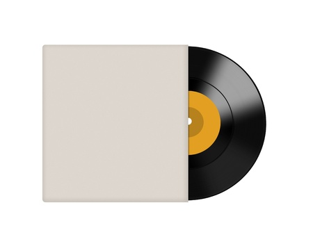 Vinyl record with blank cover photo