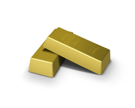 Gold bars financial concept photo